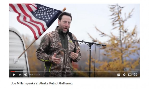 Anchorage Alaska Videography Services with Joe Miller speaks at Alaska Patriot Gathering